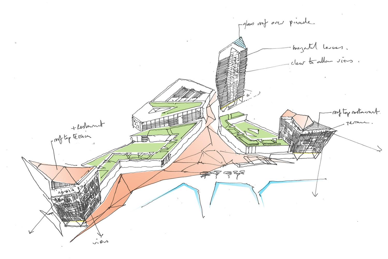DesignEngine Jesselton Quay Sketch