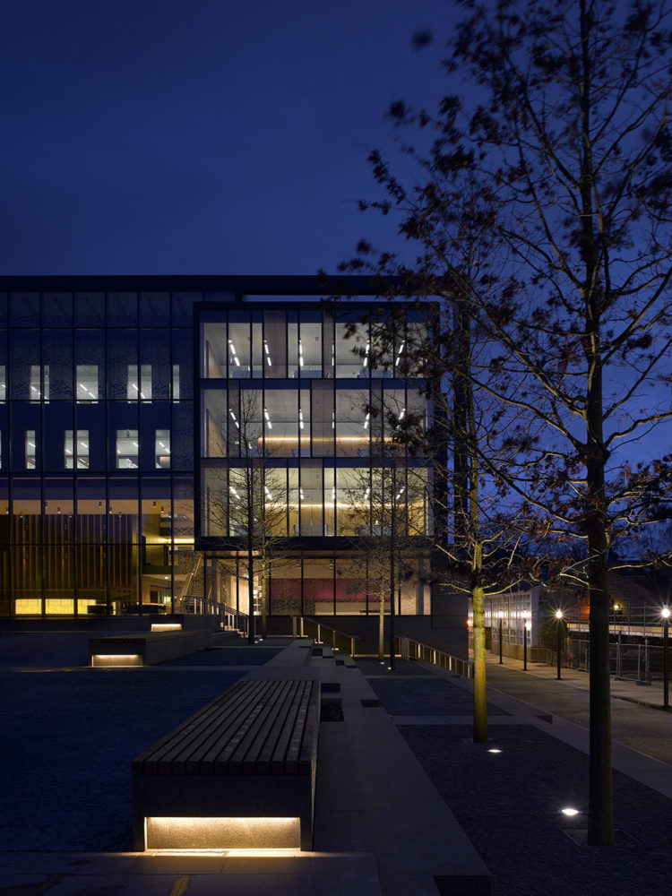 Design Engine Oxford Brookes John Henry Brookes Building at night