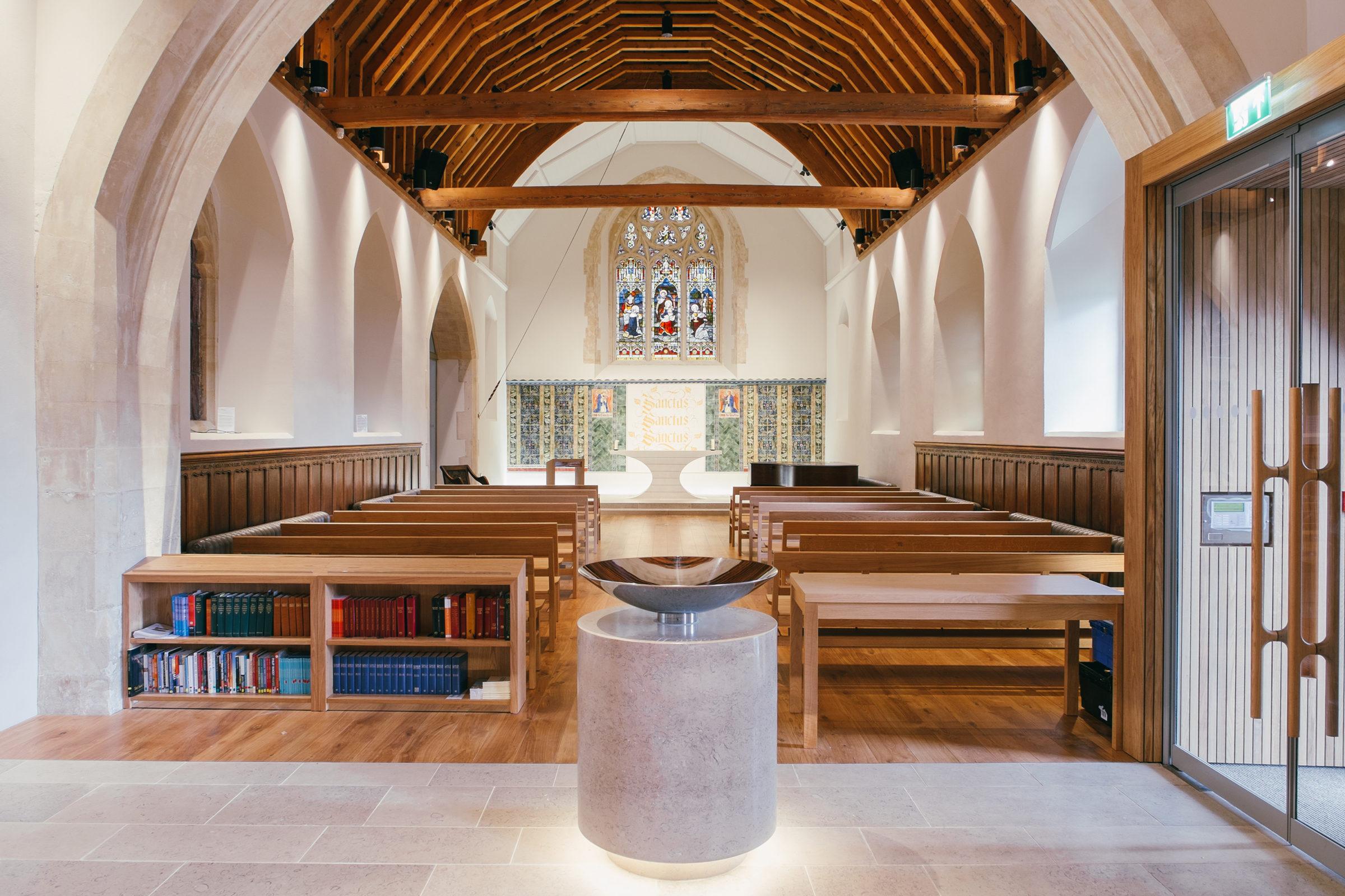 Design Engine UoW Chapel Interior Font and altar