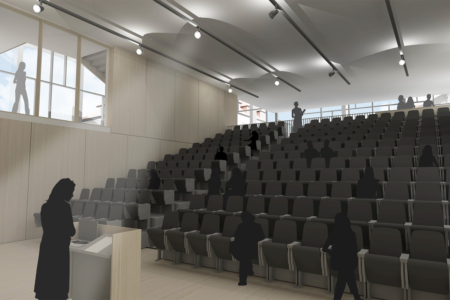 Design Engine Downe House visualisation lecture theatre