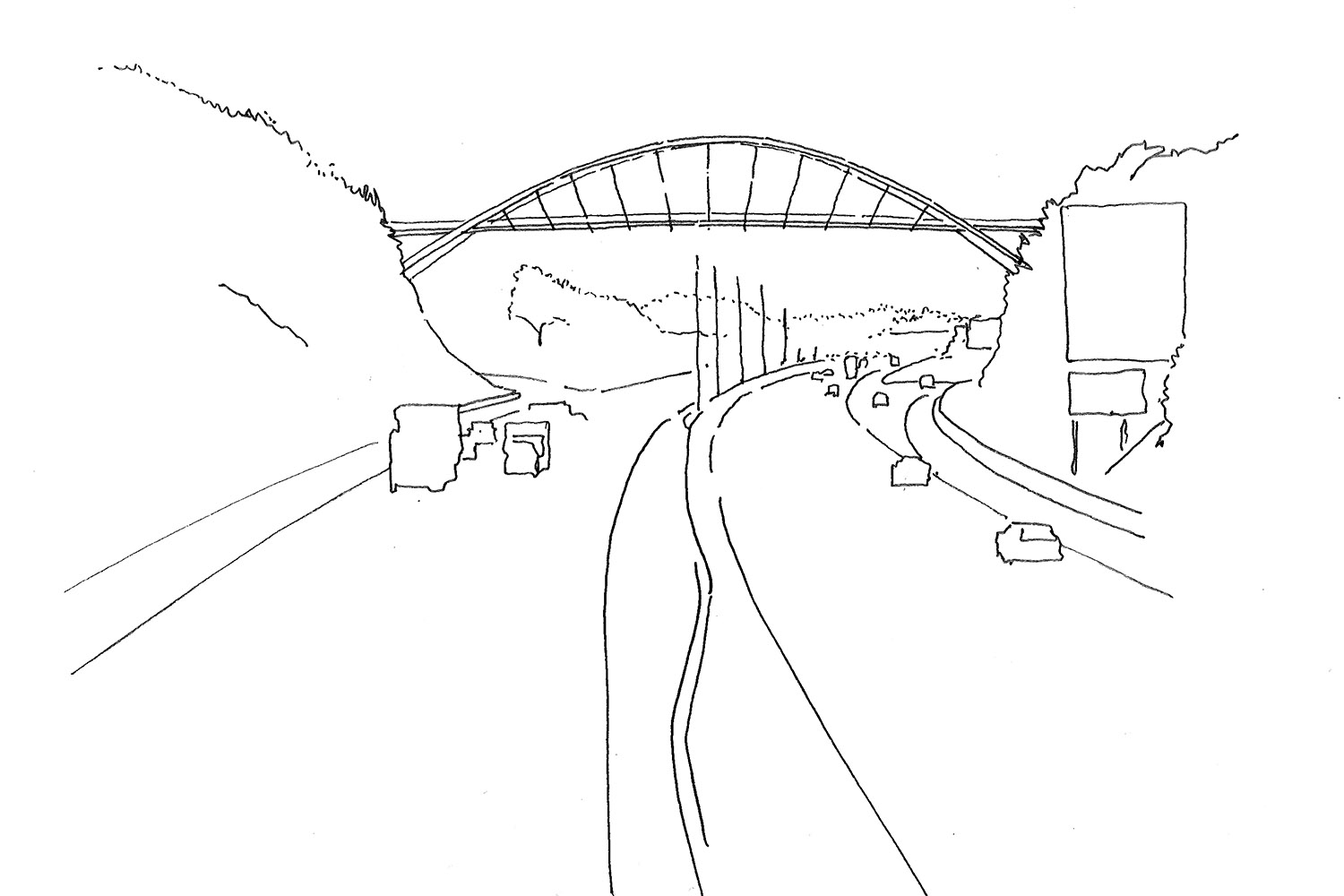 DesignEngine Redhayes Bridge sketch overview