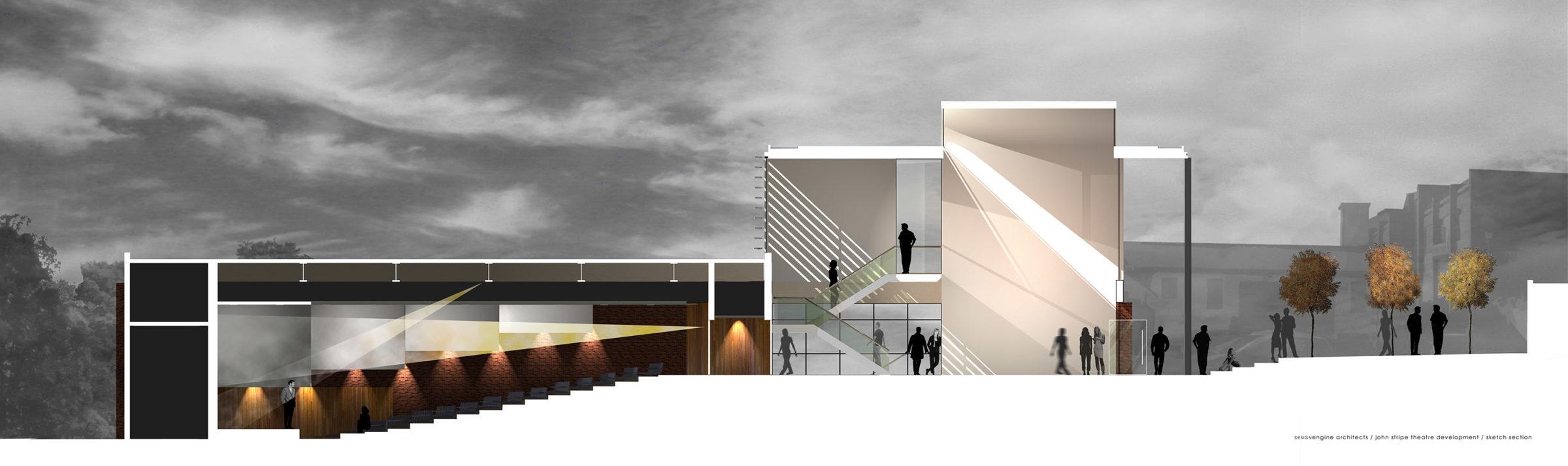 Design Engine Stripe Lecture Theatre Visualisation