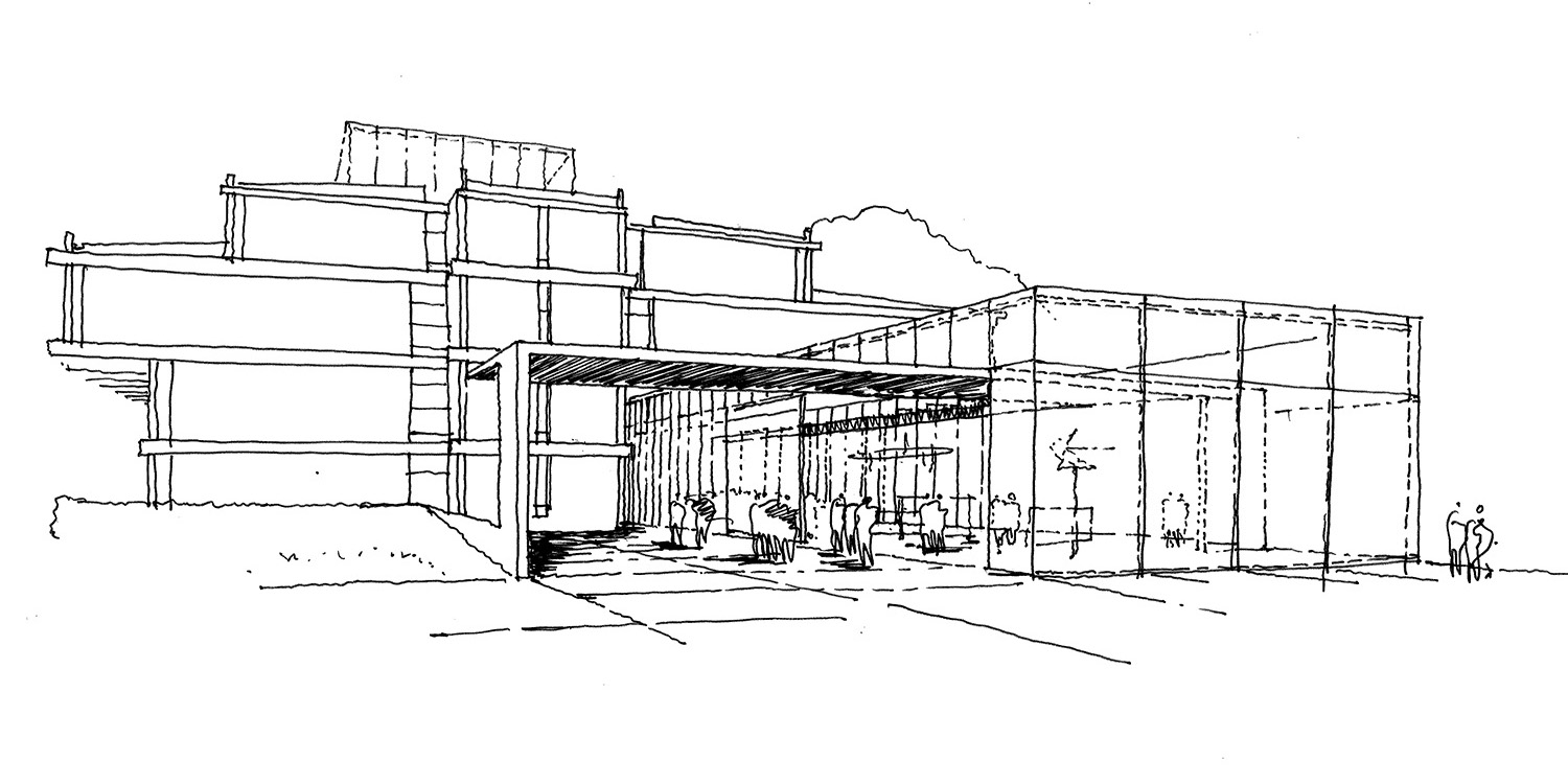 Design Engine URS Building Reading University Sketch