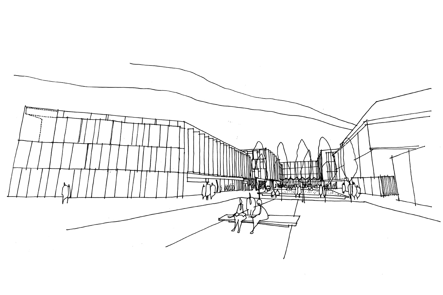 Design Engine Arts University Bournemouth Masterplan Sketch