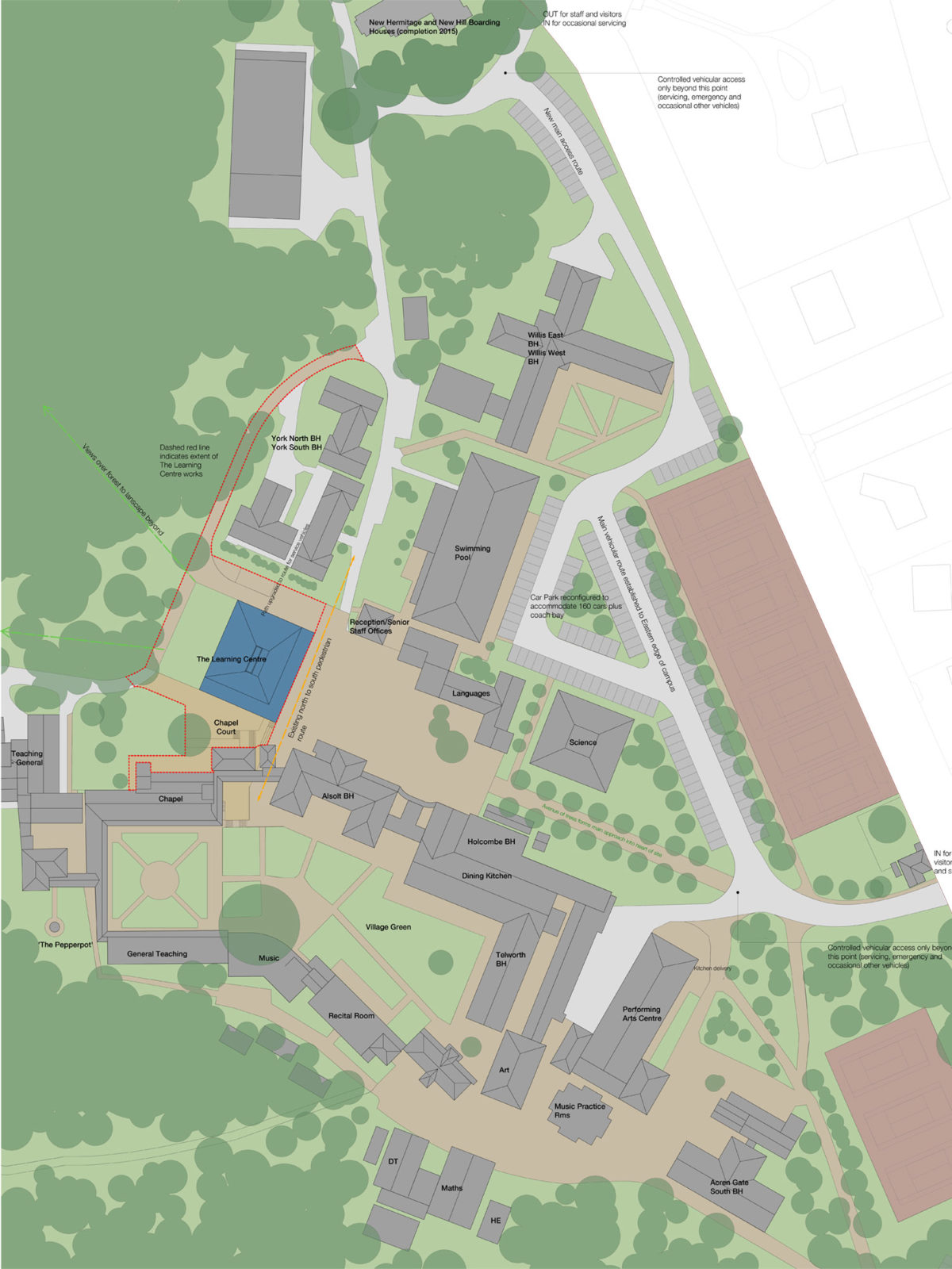 site plan with parking