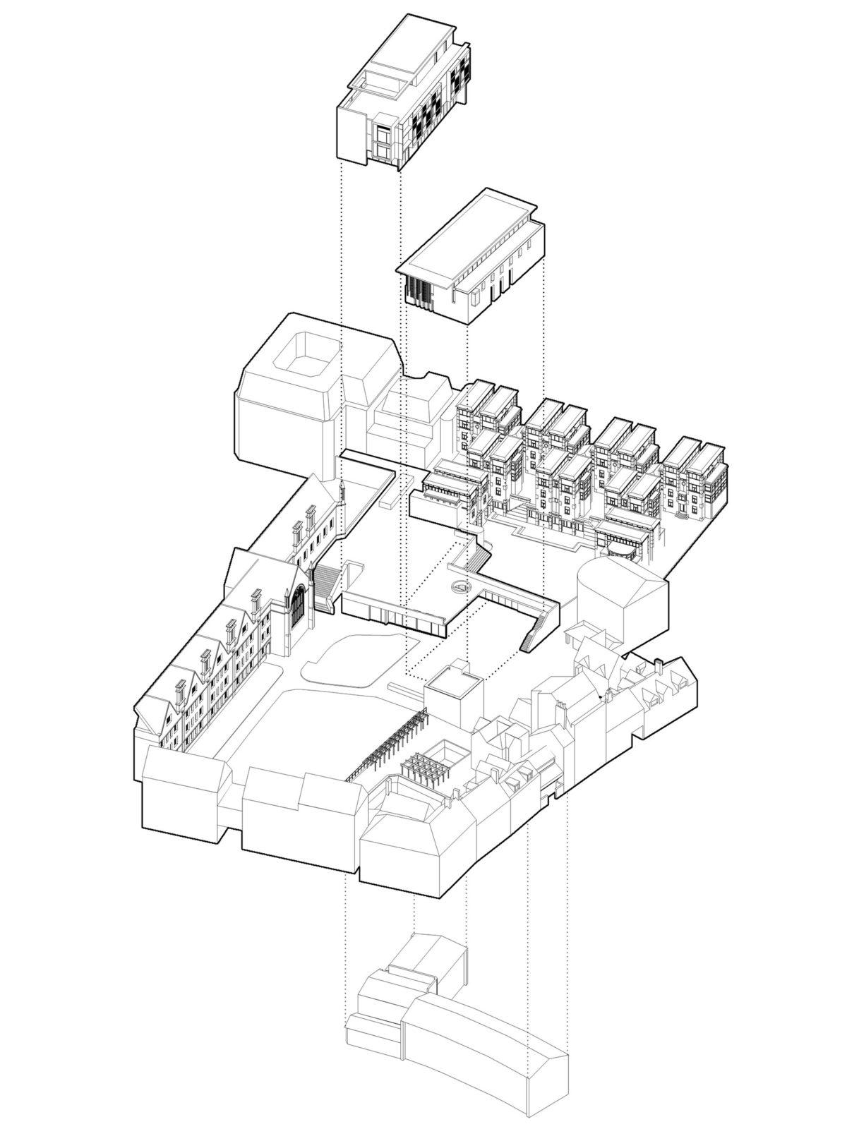 DesignEngine Wadham College Visualisation Axonometric
