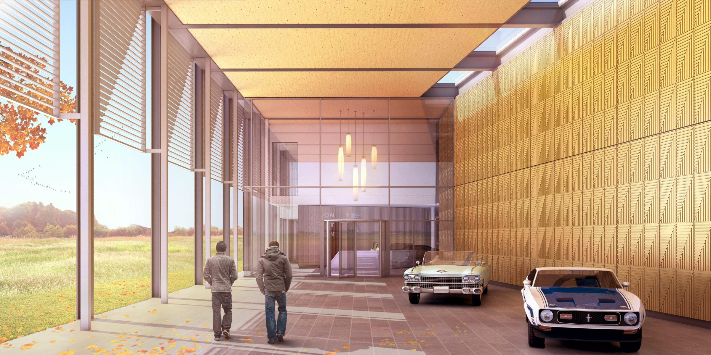 Design Engine Gordon Murray Visualisation Building A Level Entrance
