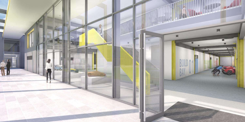 Design Engine Gordon Murray Visualisation Building C Entrance