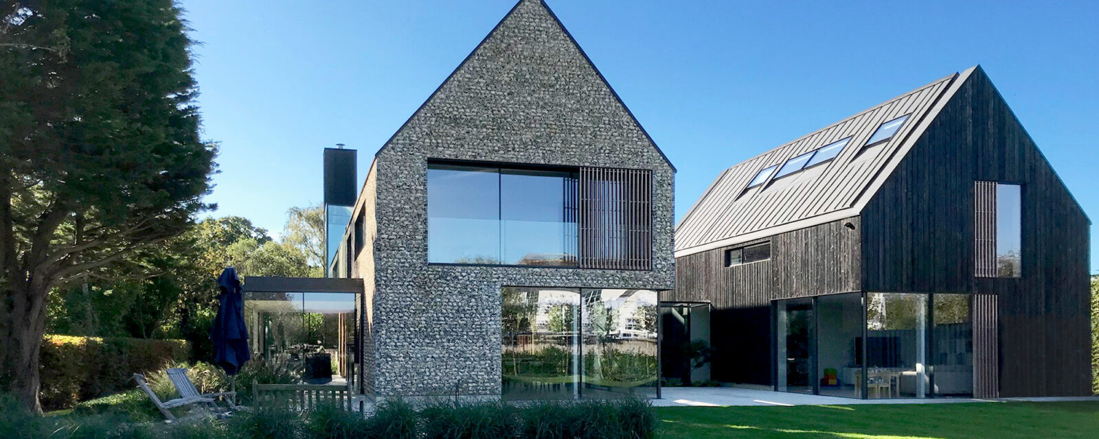 Garden view of private dwelling in Chichester