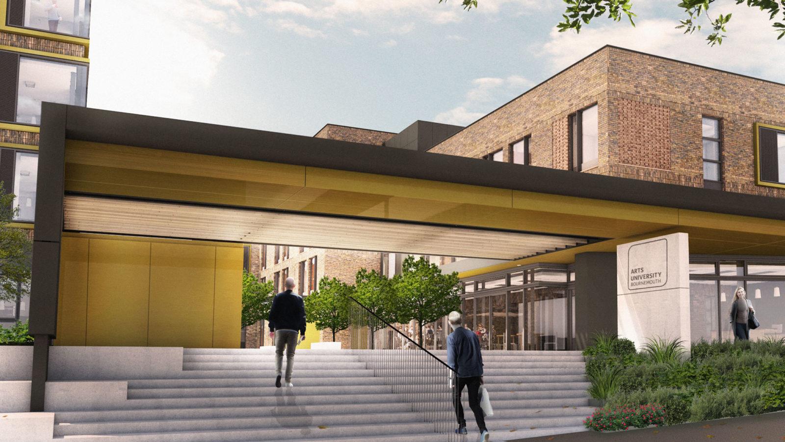 AUB Residential entrance canopy