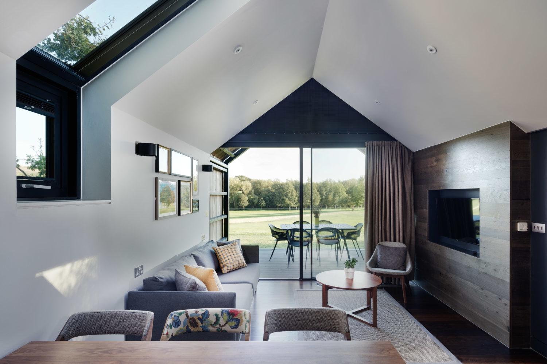lodge interior with sofa