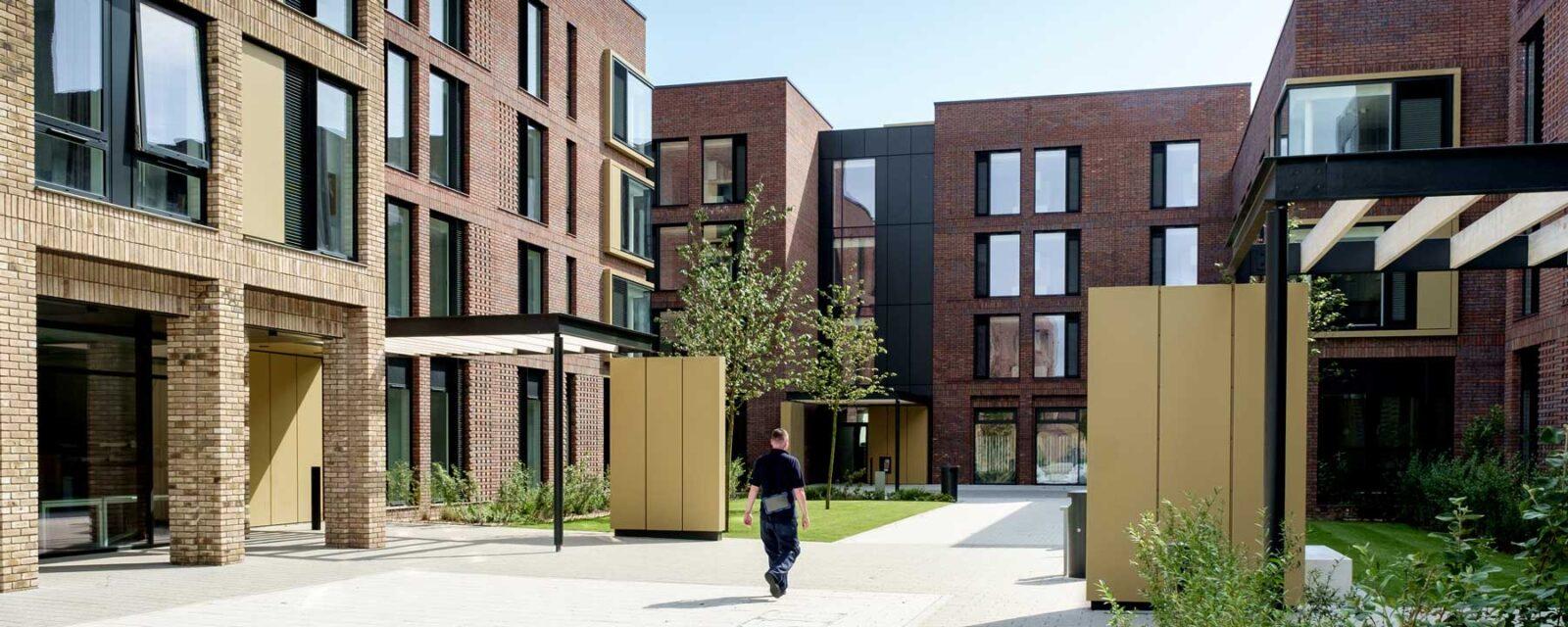AUB Residentials Halls Exterior Courtyard View