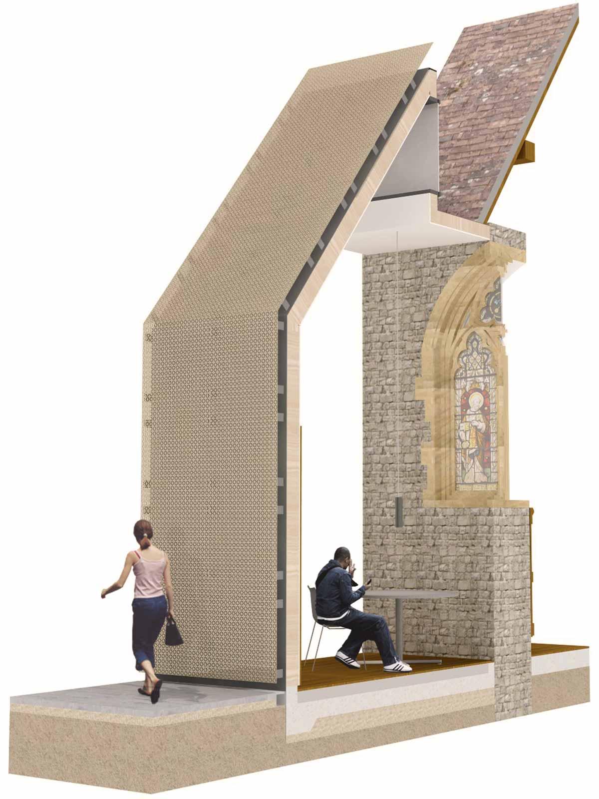 Winton Chapel side chapel cut-trhough diagram