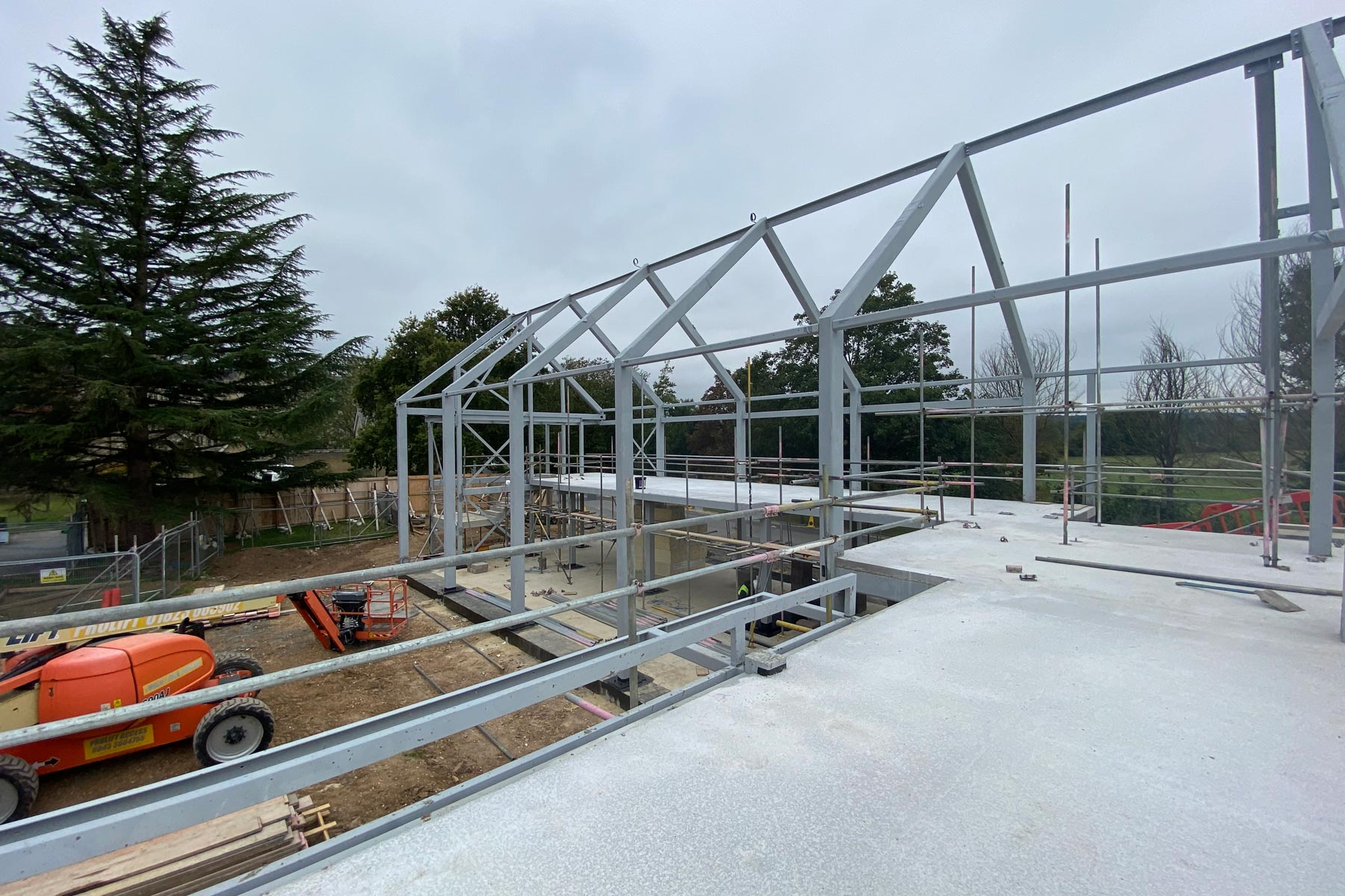 Canford Library site works