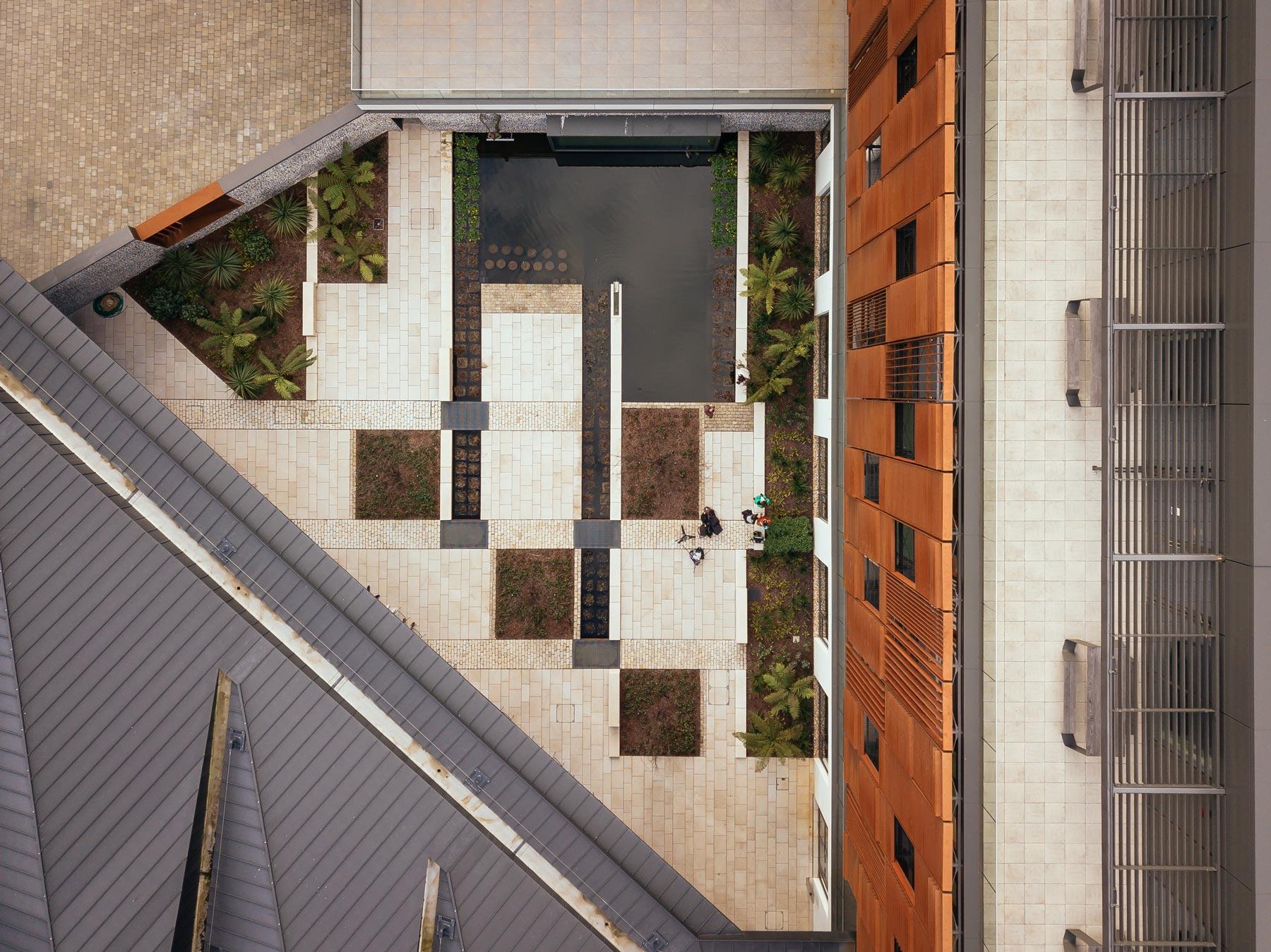 Design Engine West Downs Building garden aerial