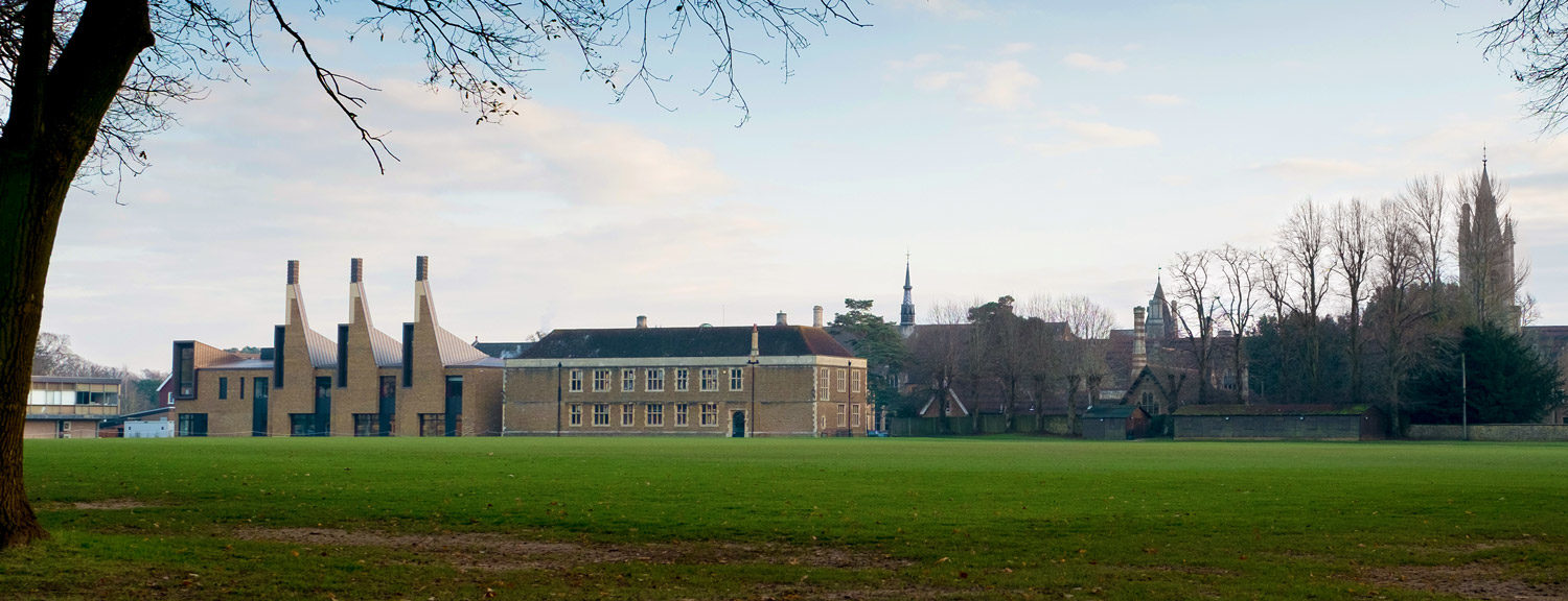 View across the playing fields to the Charterhouse Science Building