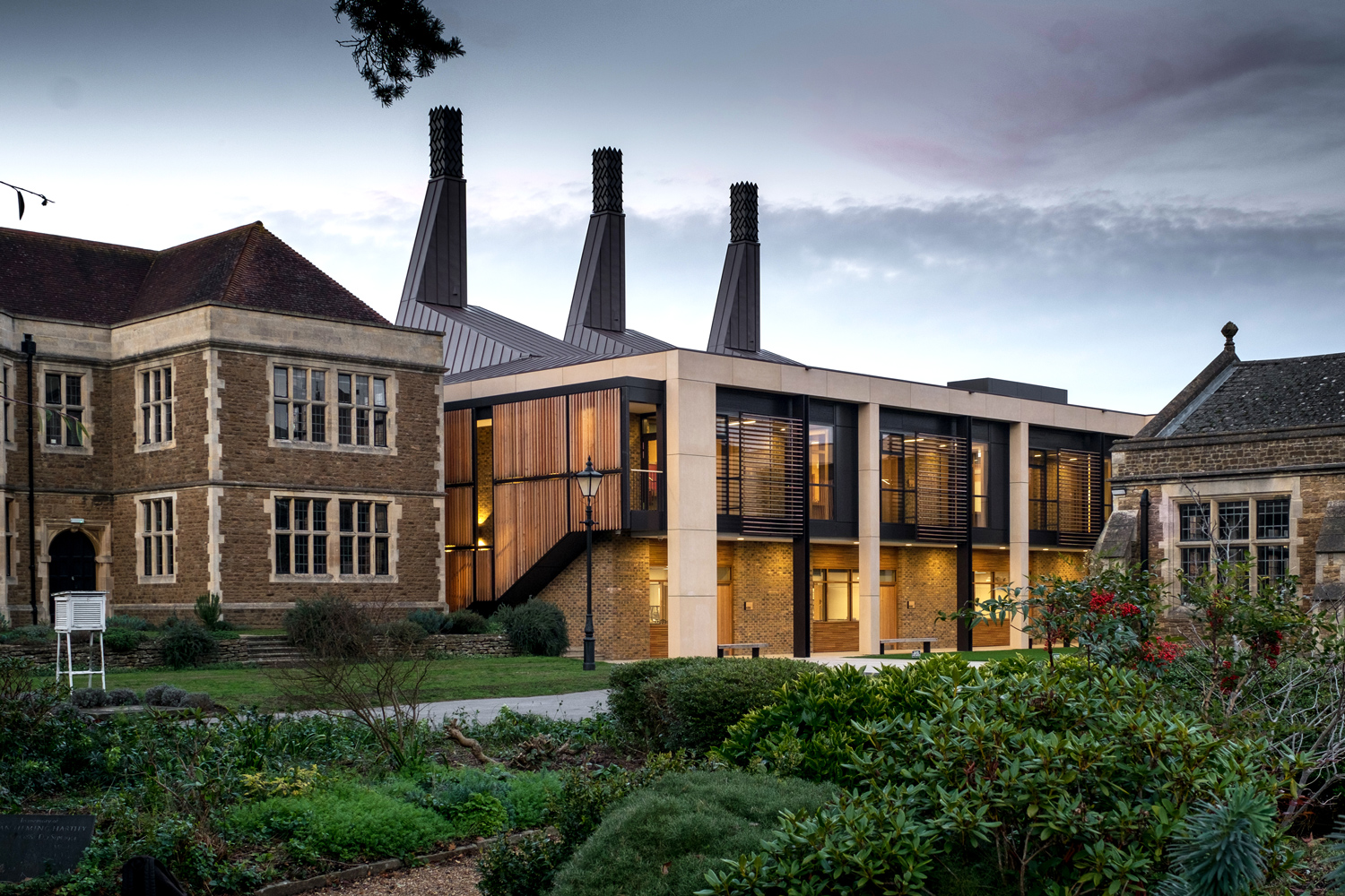 View of Charterhouse Science at Dusk