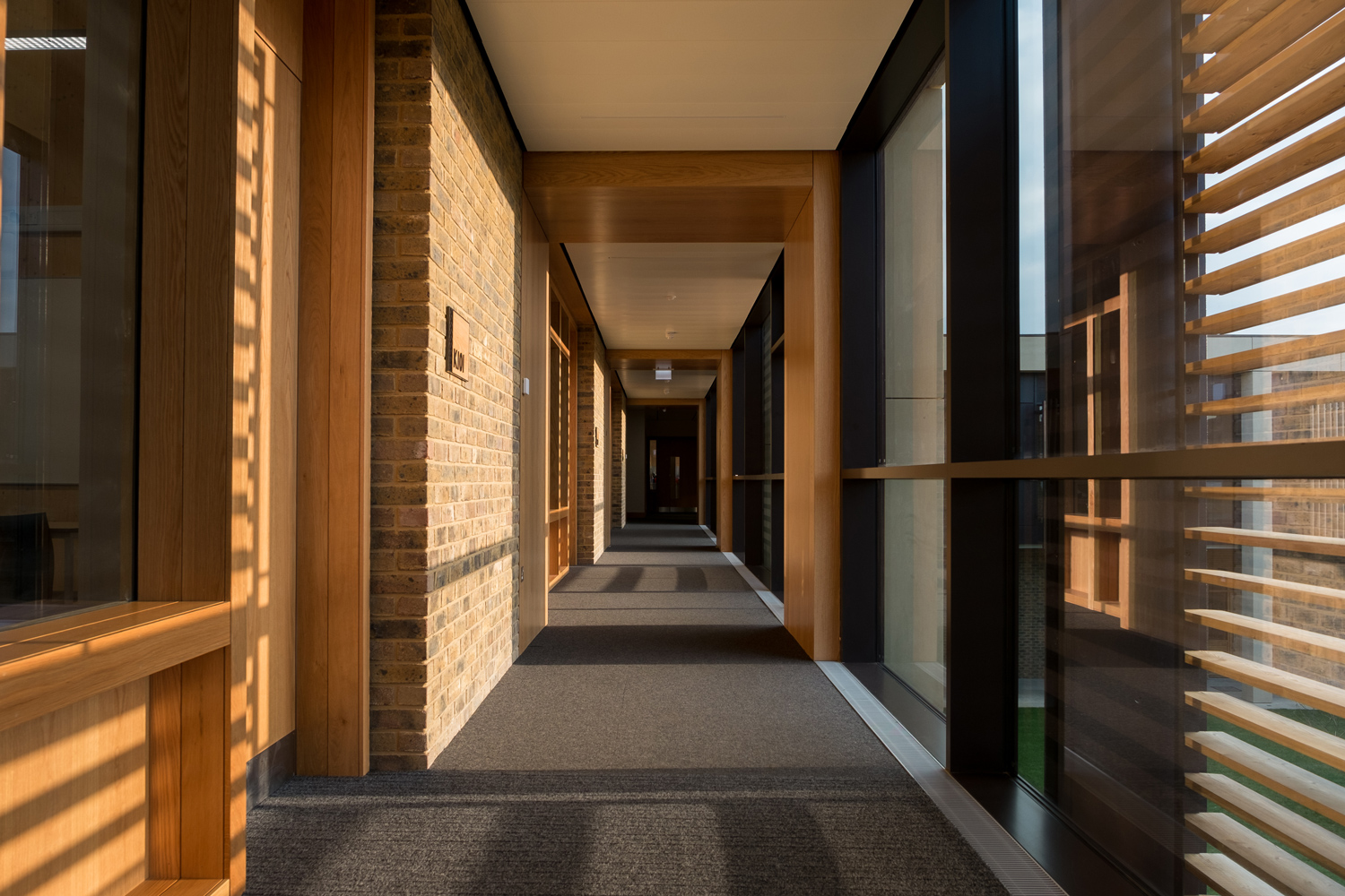 Corridor view of Charterhouse Science
