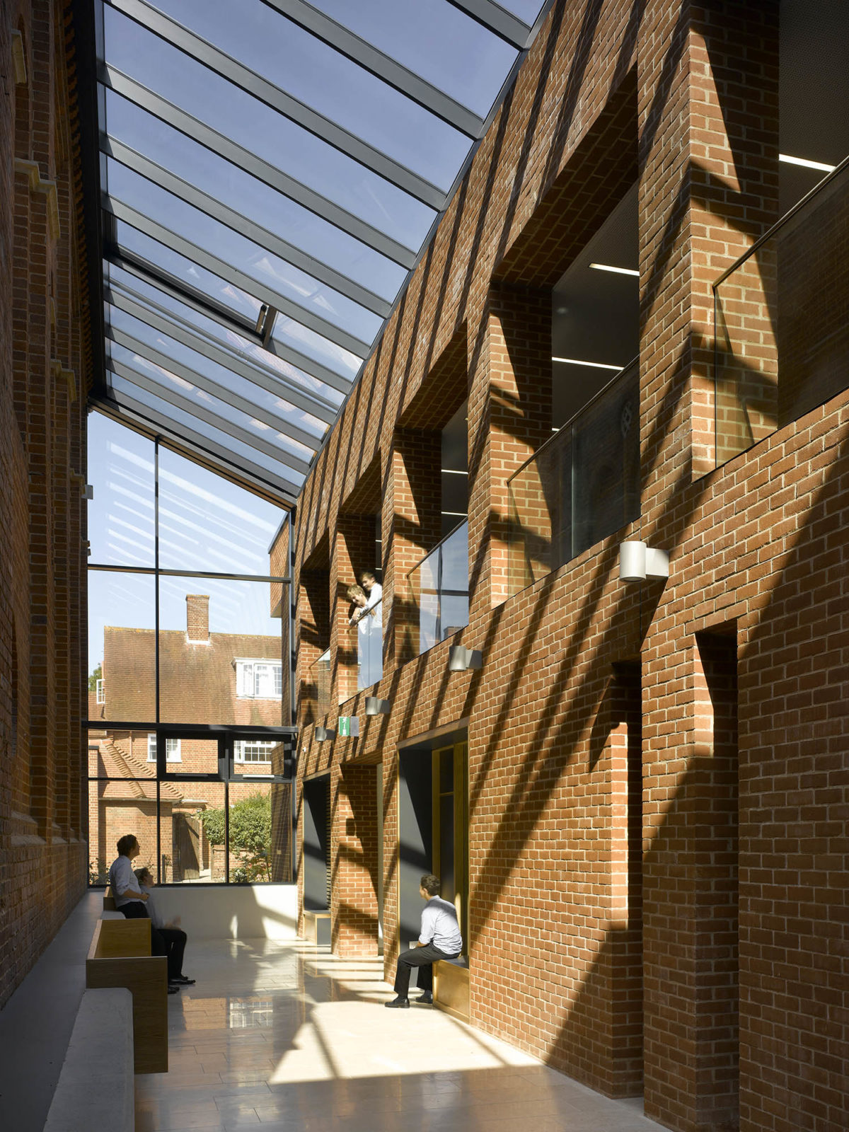 Design Engine's Radley College Interior existing building against new build