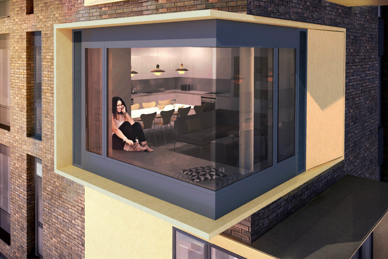 Design Engine AUB Student Accommodation Visualisation