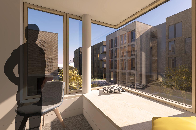 Internal Bay Window of AUB Residential