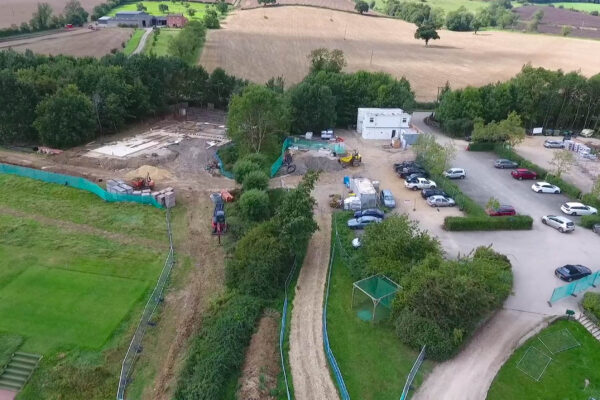 Aerial Views of Construction Progress Captured by a Drone at Feldon Valley Golf Club