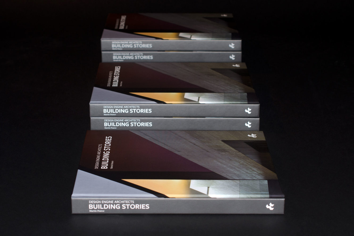 Design Engine Building Stories Book composition of 5 covers