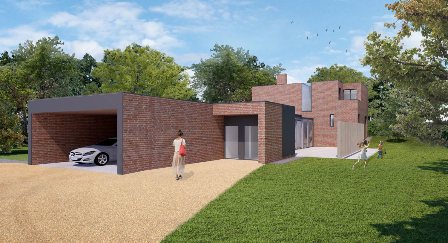 Herdsmans Cottage Visualisation entrance view