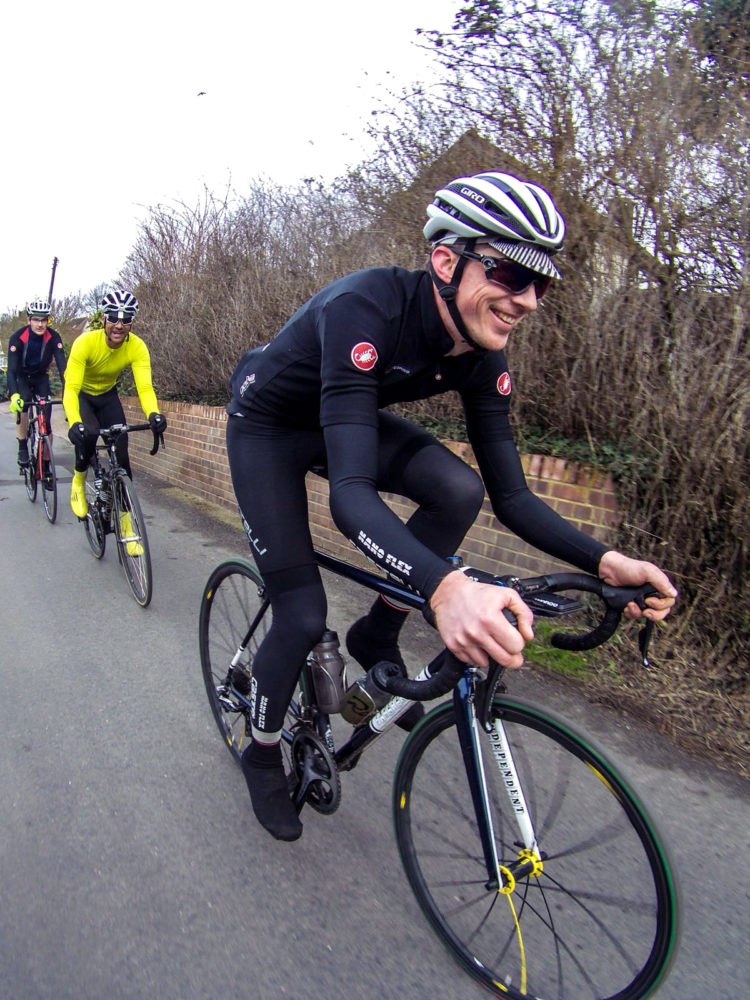 Tim O'Rourke on training ride