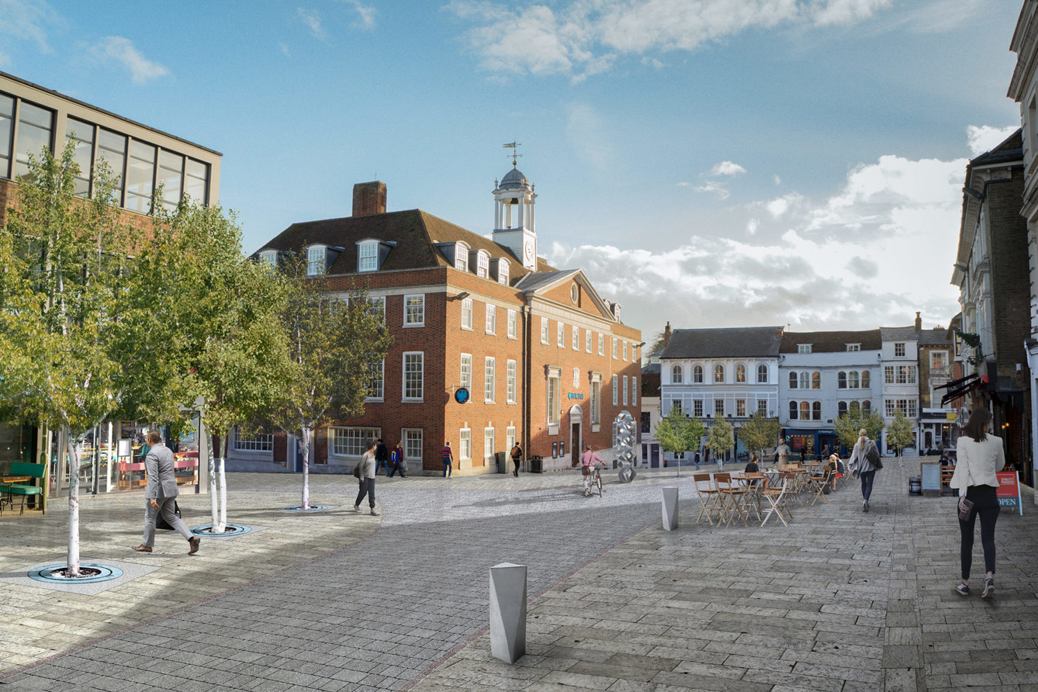 Top of Winchester highstreet Proposed carless