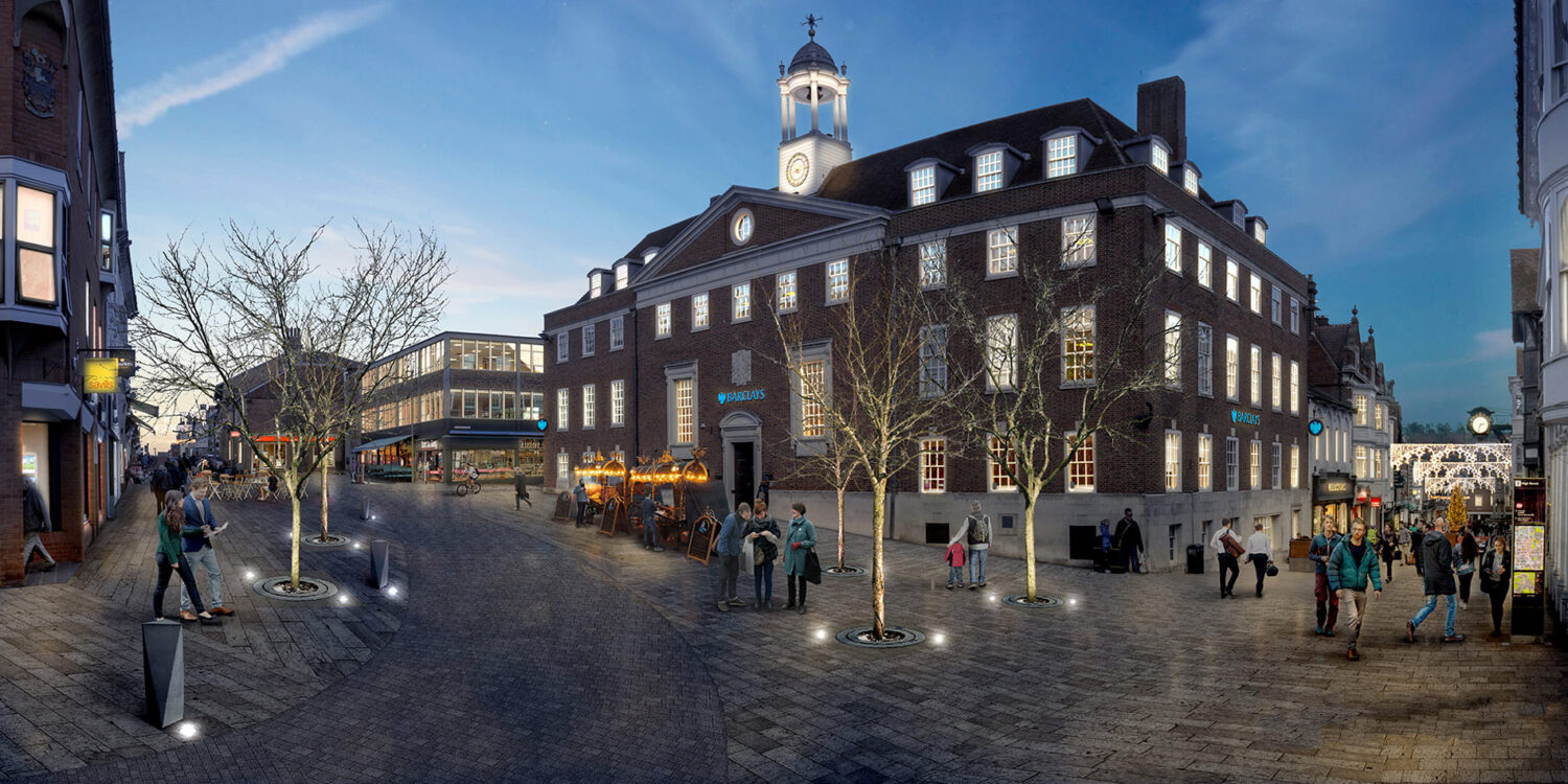 Top of Winchester highstreet Nightshot proposed carless