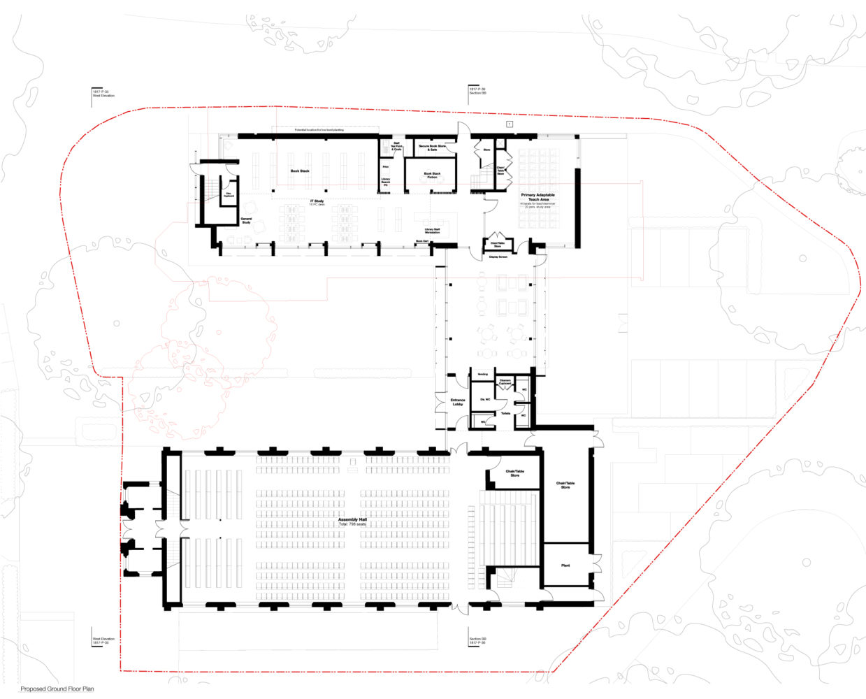 Canford School Library Proposed Ground Floor Plan