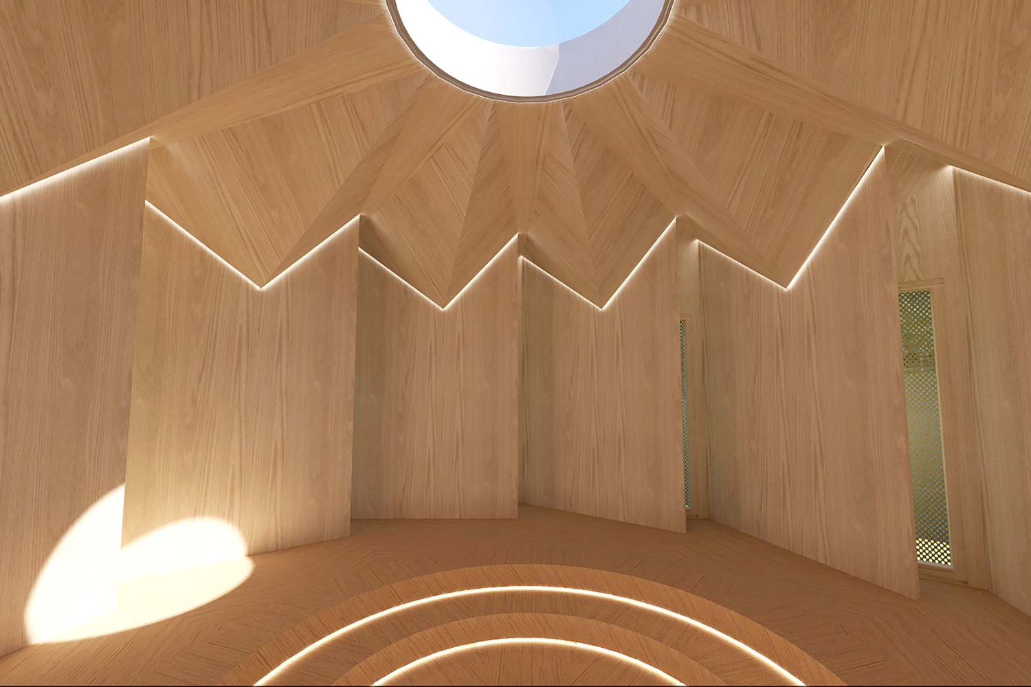 Interior Render of the Listening Space